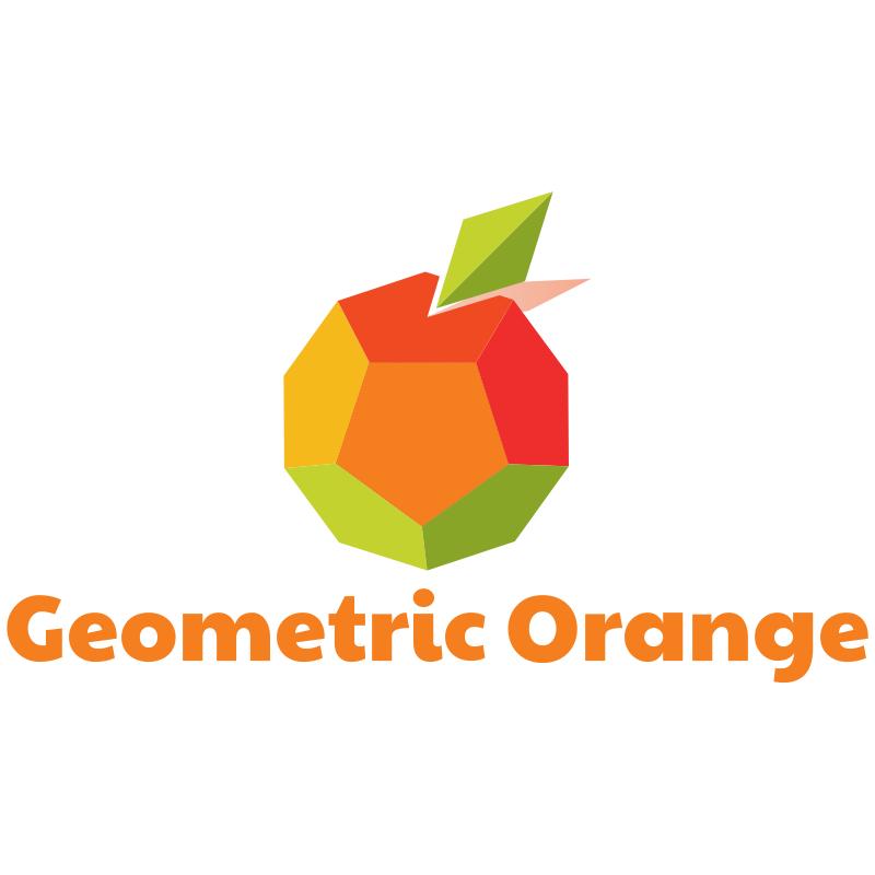 Geometric Orange Logo Design