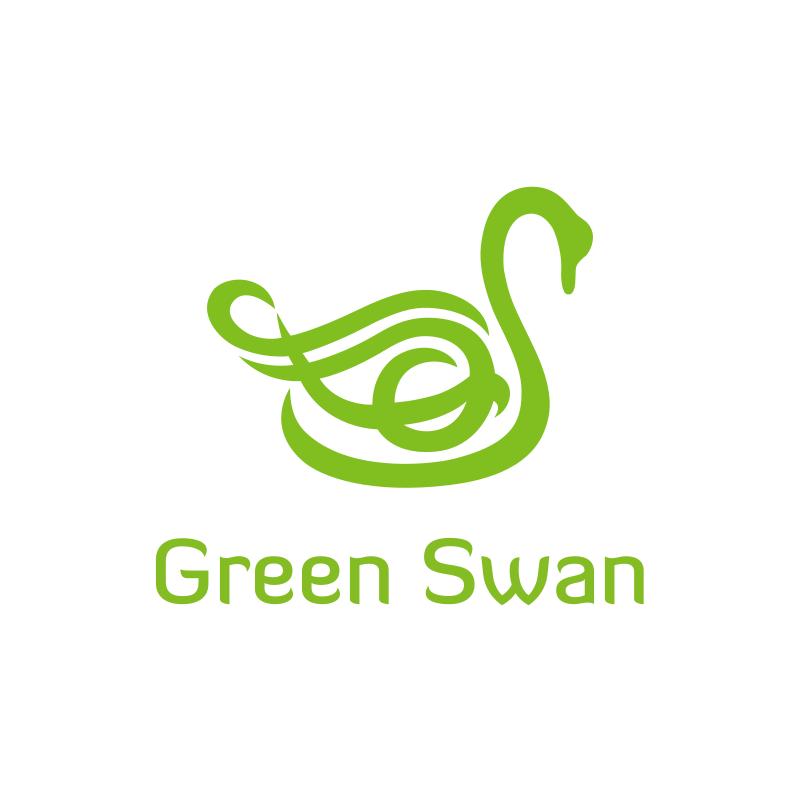 Green Swan Logo Design
