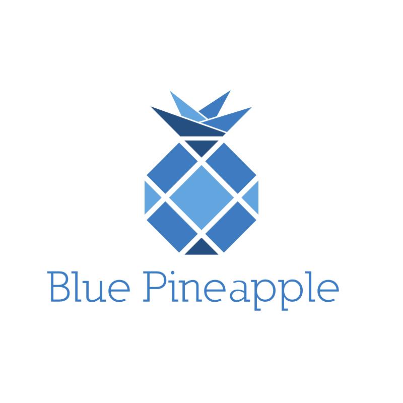 Blue Pineapple Logo Design