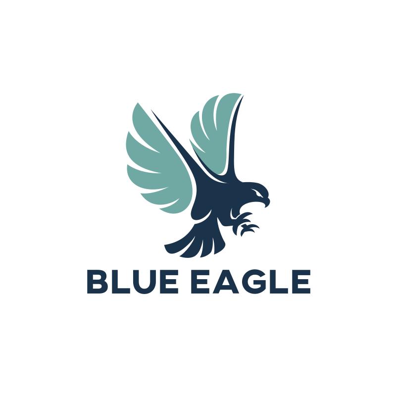 Blue Eagle Logo Design