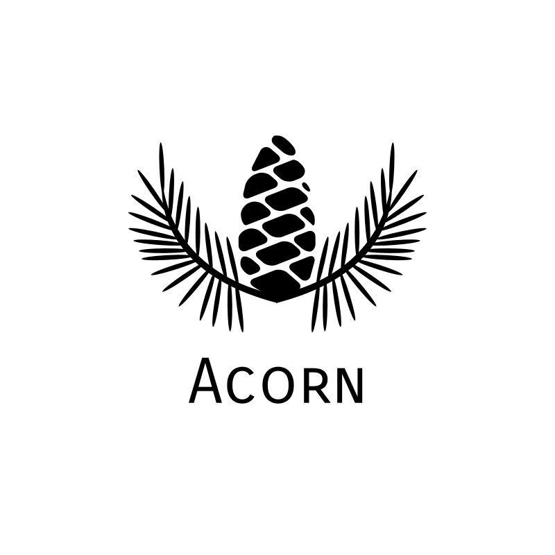 Black Acorn Logo Design