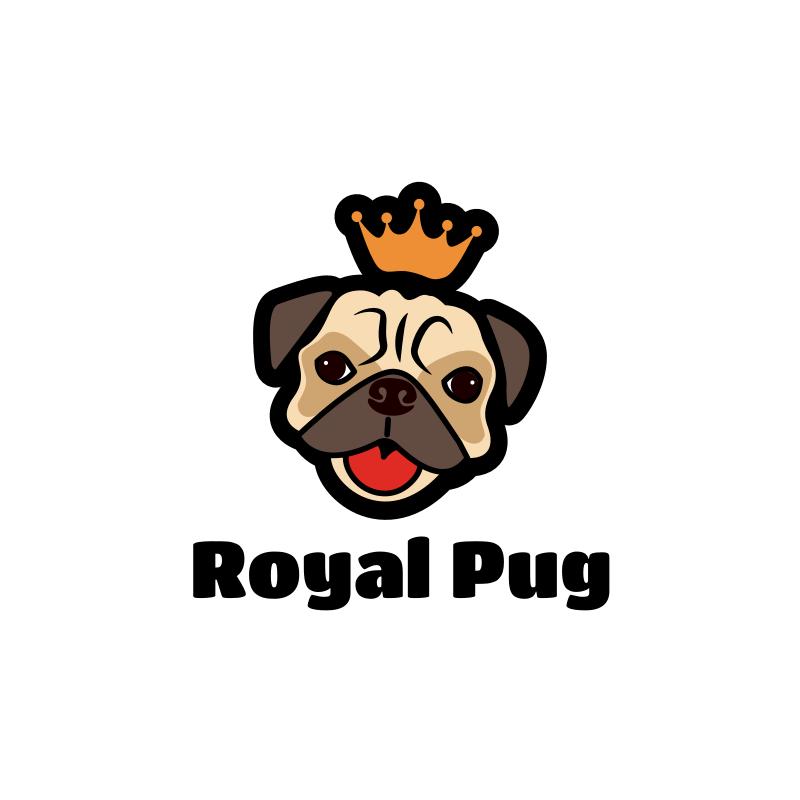 Royal Pug Logo Design
