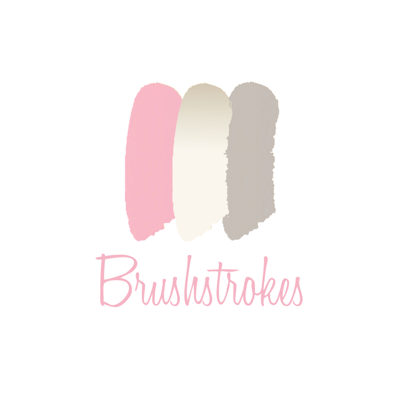 Makeup Brushstrokes Logo Design