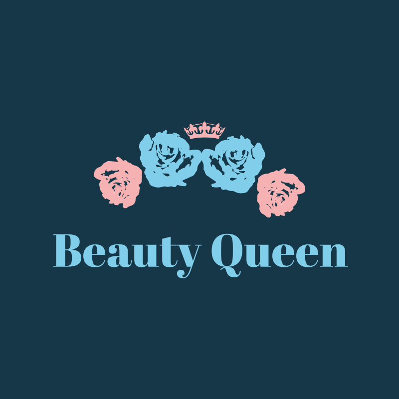 Beauty Queen Floral Logo Design