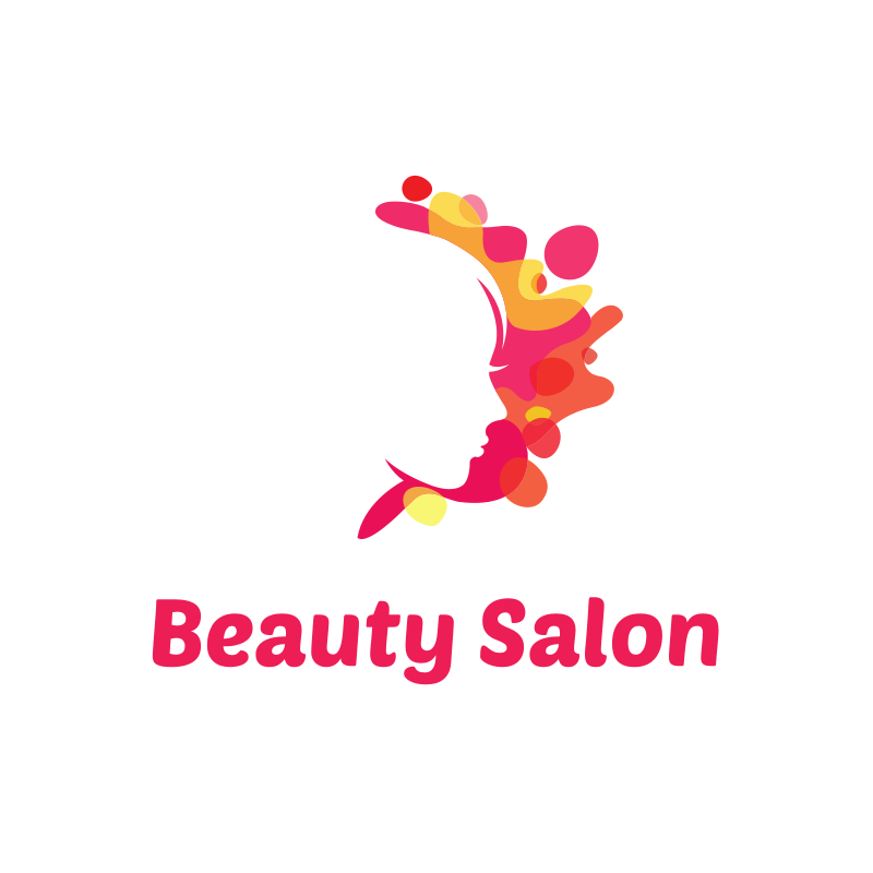 Beauty Salon Pink Splashes Logo Design