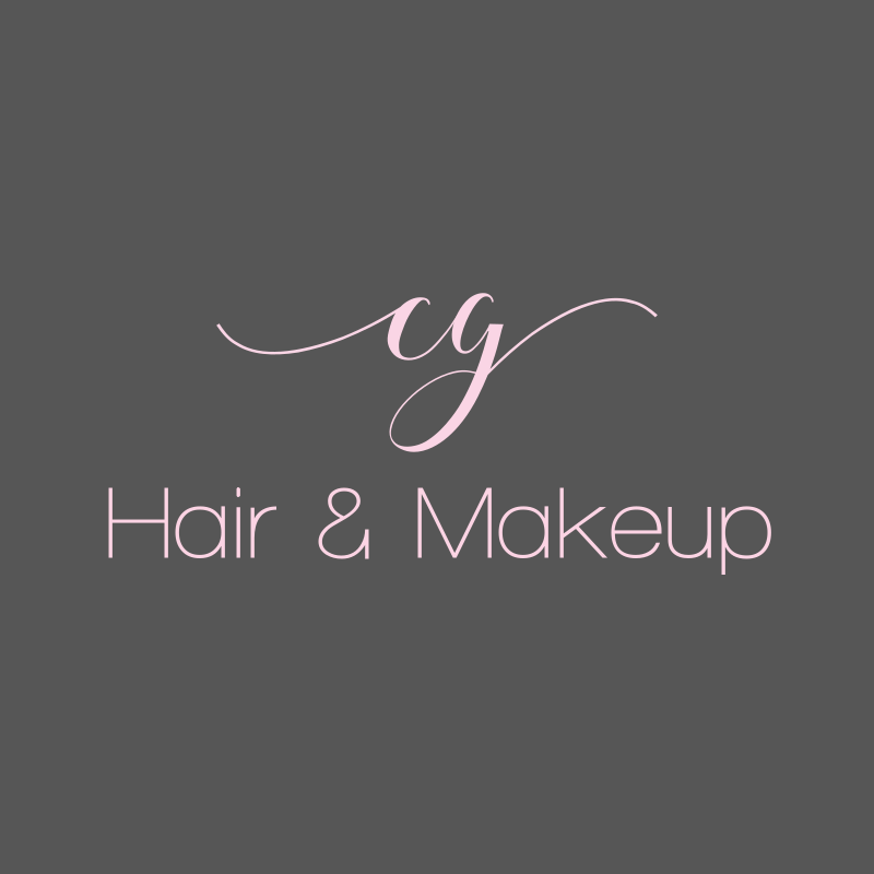 Pink Signature Hair And Makeup Logo Design
