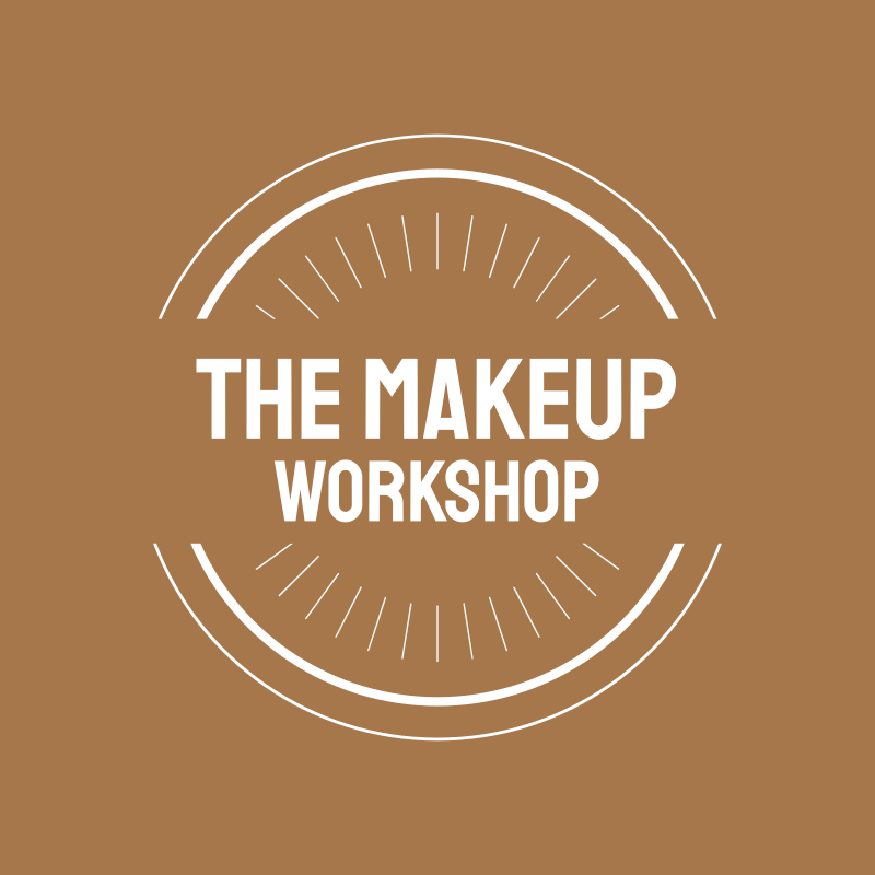 Golden Sand Circle Round MakeUp Workshop Logo Design