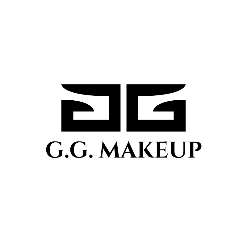Black and White G.G. Makeup Logo Design