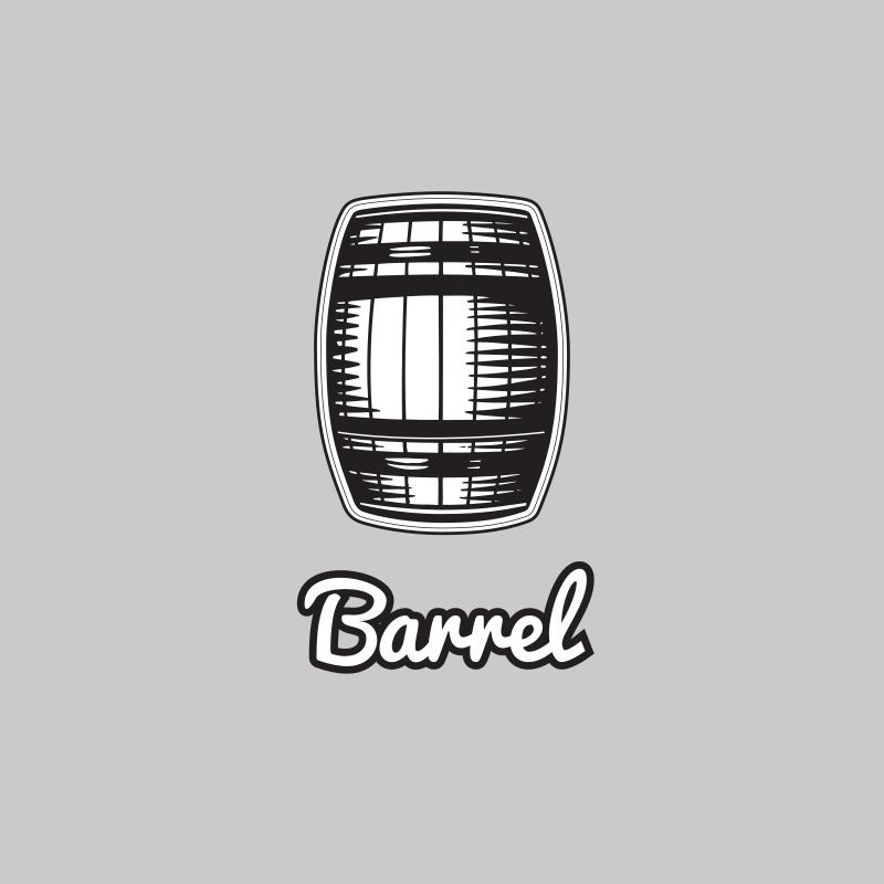 Black and White Barrel Logo Design