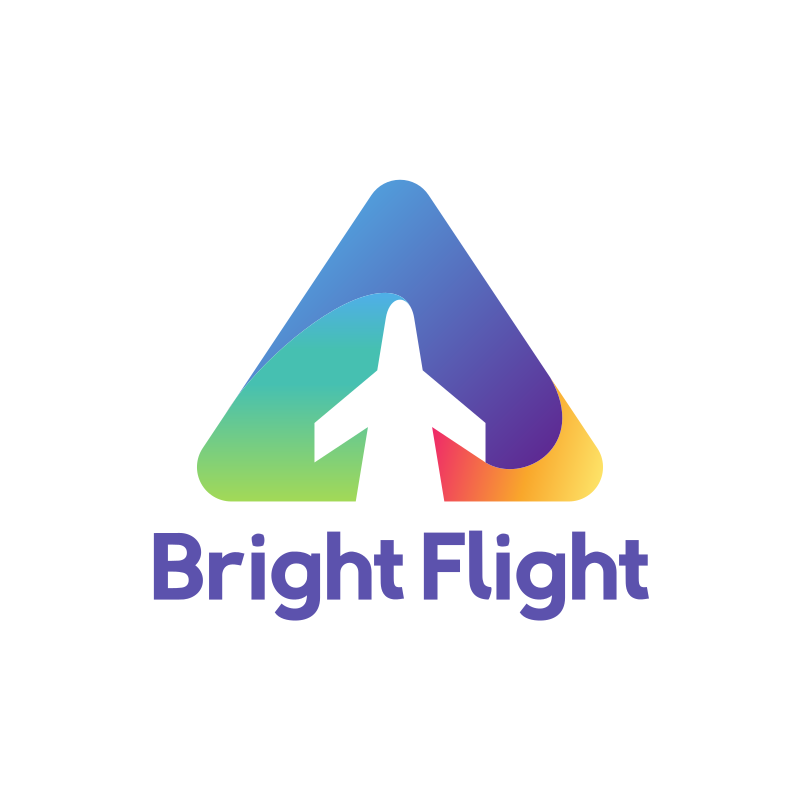 Bright Flight Triangle Logo Design