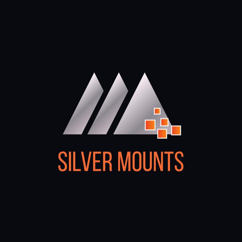 Silver Mounts Triangle Logo Design