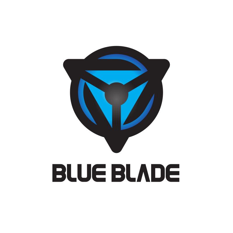 Blue Blade Triangle Logo Design