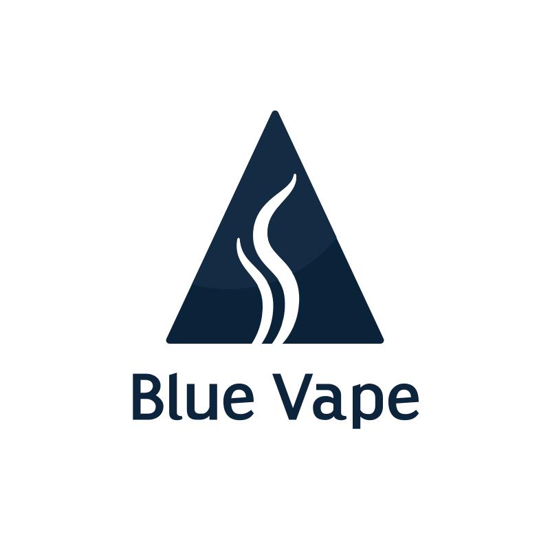 Triangle Blue Vape Logo Design