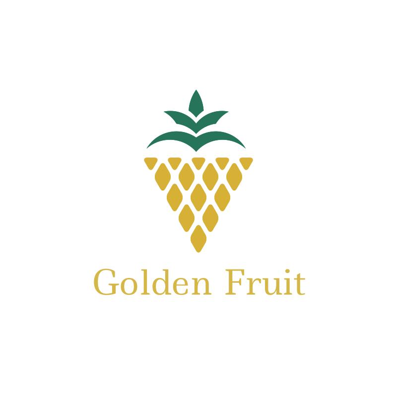 Golden Fruit Triangle Logo Design