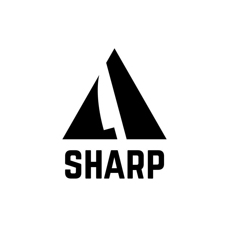 Sharp Triangle With Knife Logo Design