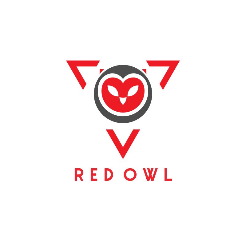 Red Owl Triangle Logo Design