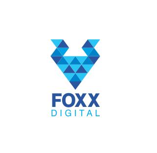 Foxx Digital Triangle Logo Design by Savitra