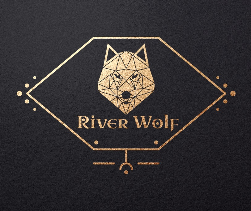 River Wolf Triangle Logo Design by H-H Arts