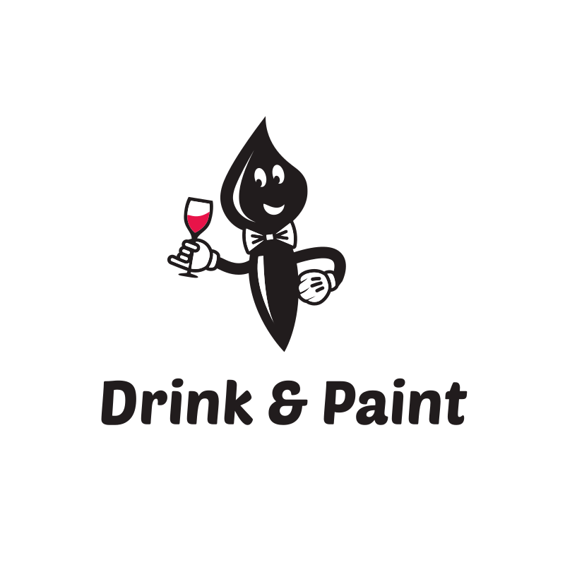 Drink & Paint Business Logo Design