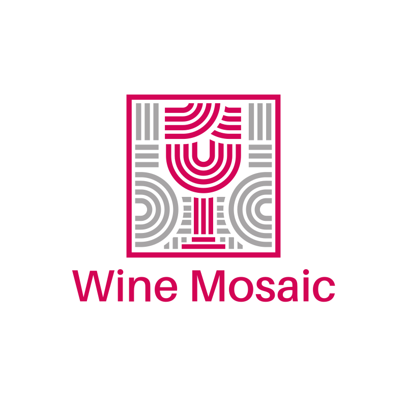 Wine Mosaic Logo Design