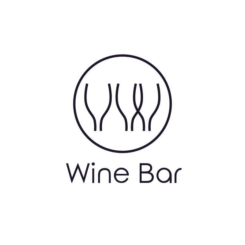 Wine Bar Logo Design