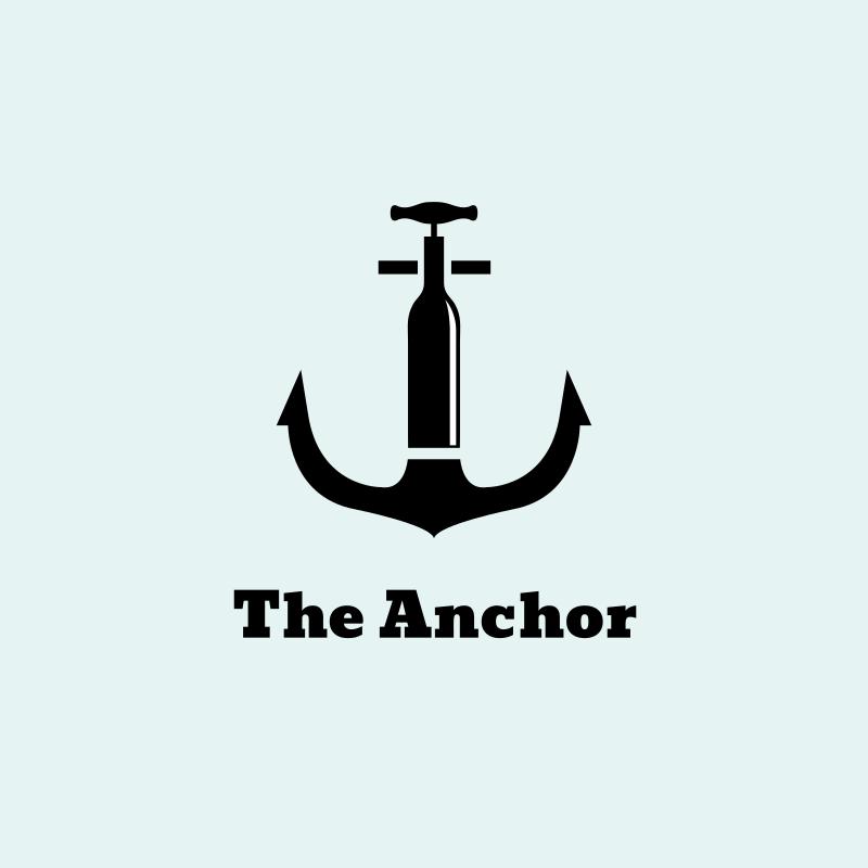 The Anchor Wine Bar Logo Design