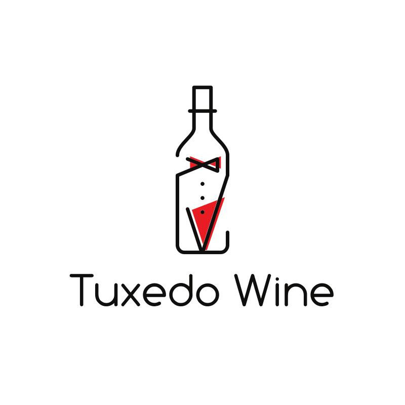 Tuxedo Wine Logo Design