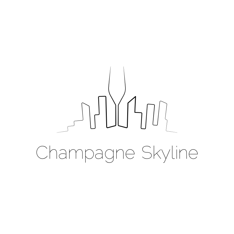 Champagne Skyline Logo Design