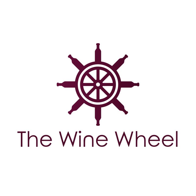 Bordeaux Wine Wheel Logo Design