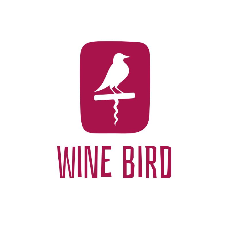 Wine Bird Logo Design