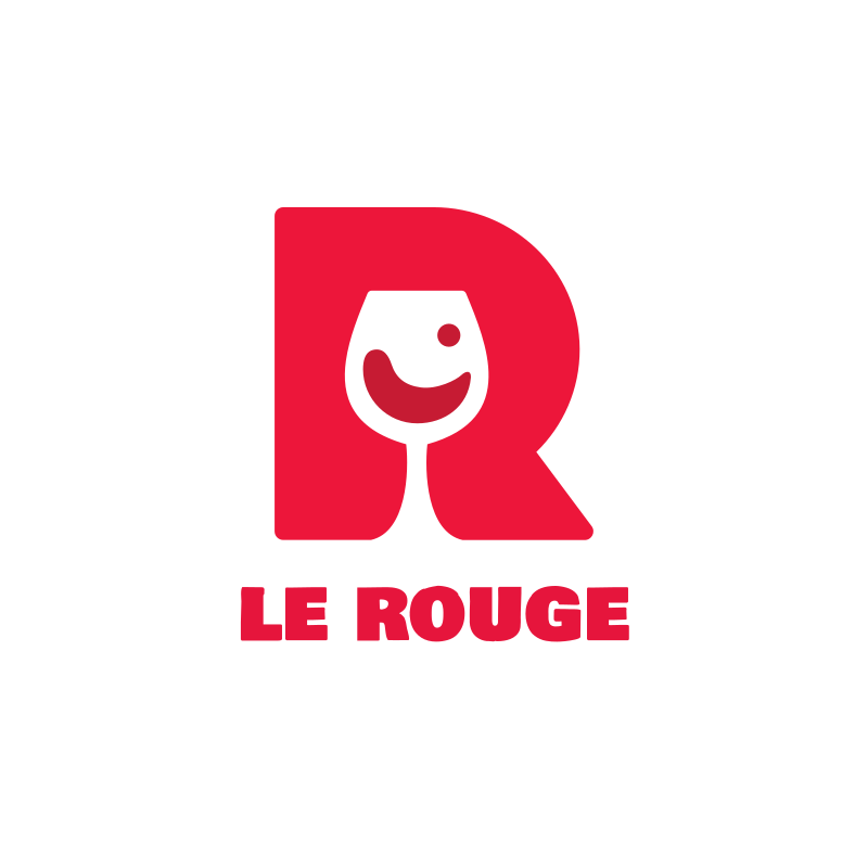 Le Rouge Wine Logo Design