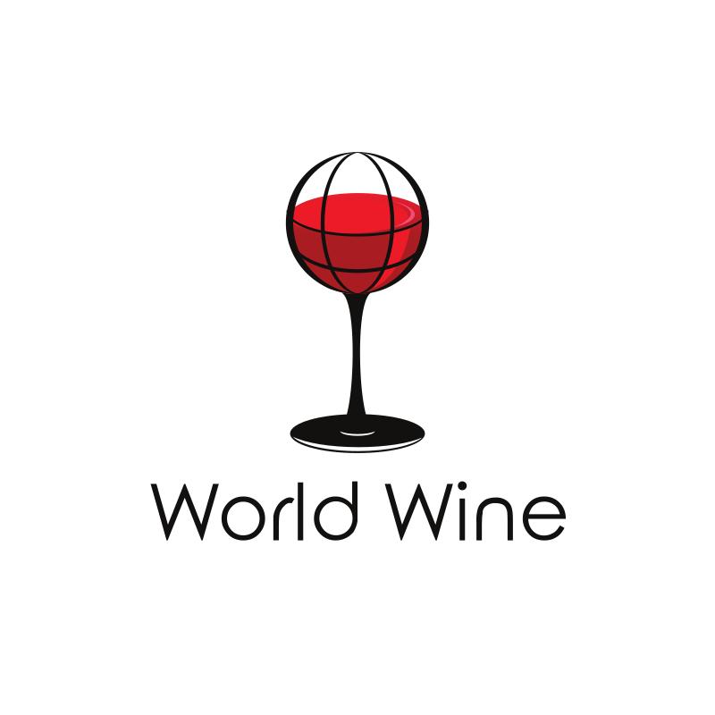 World Wine Logo Design
