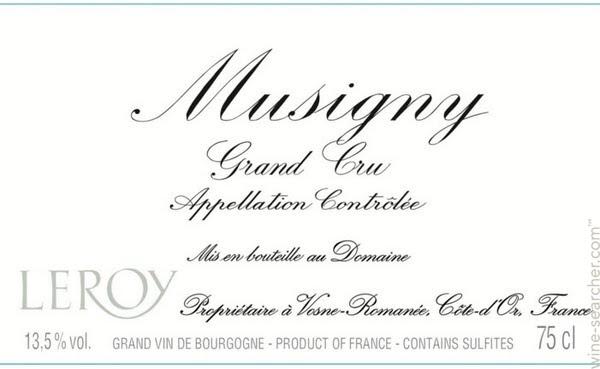 Logo Design for Domaine Leroy Musigny Grand Cru