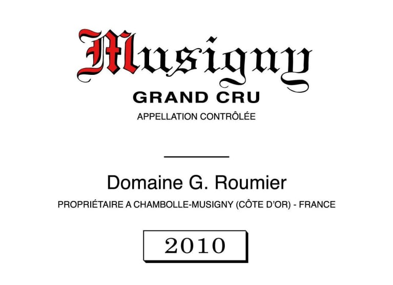 Logo Design For Domaine Georges & Christophe Roumier Musigny Grand Cru