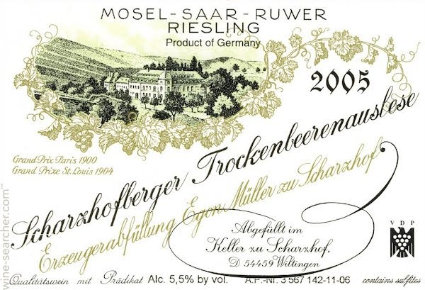 Logo Design for Egon Muller Scharzhofberger Riesling Trockenbeerenauslese