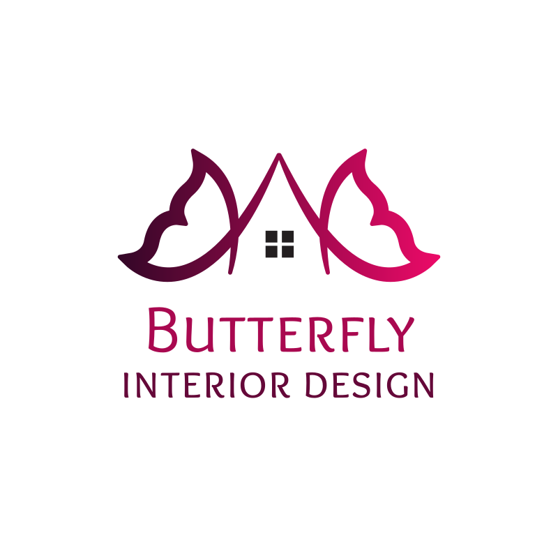 Butterfly Interior Design Logo Design