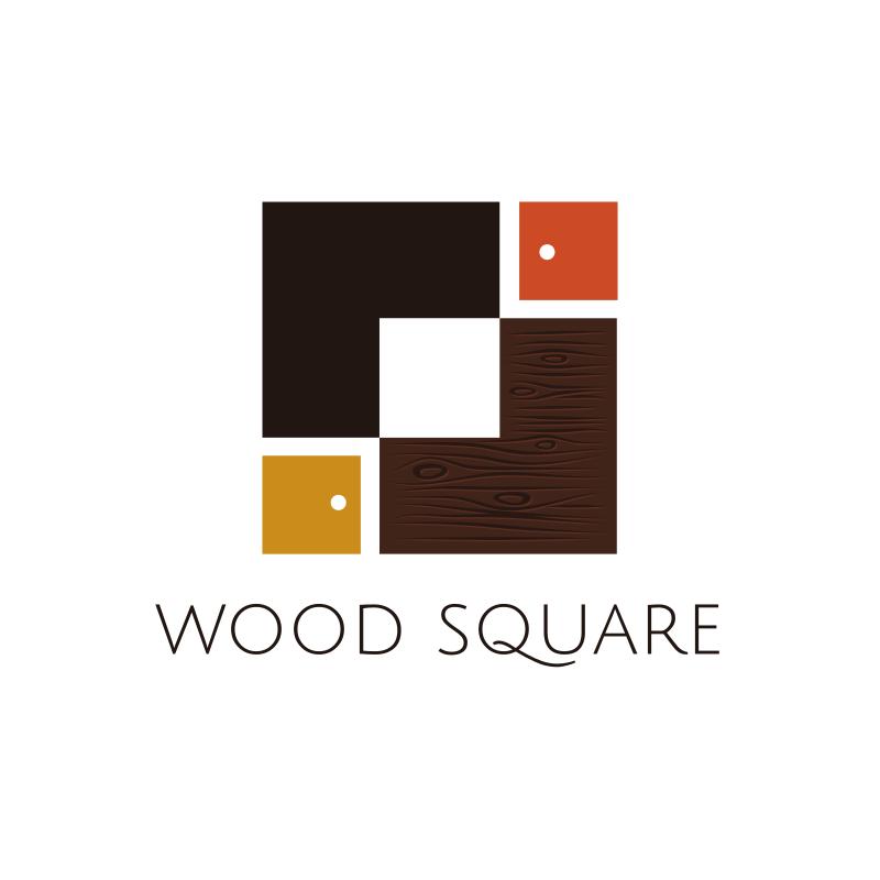 Wood Square Design Logo Design