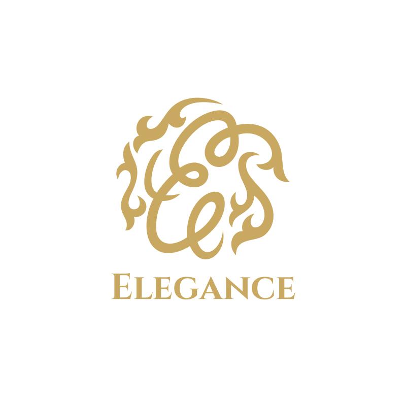 Golden Elegance Interior Design Logo Design