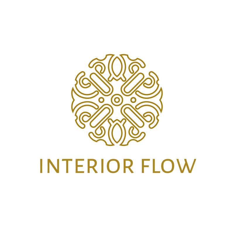 Golden Interior Flow Logo Design