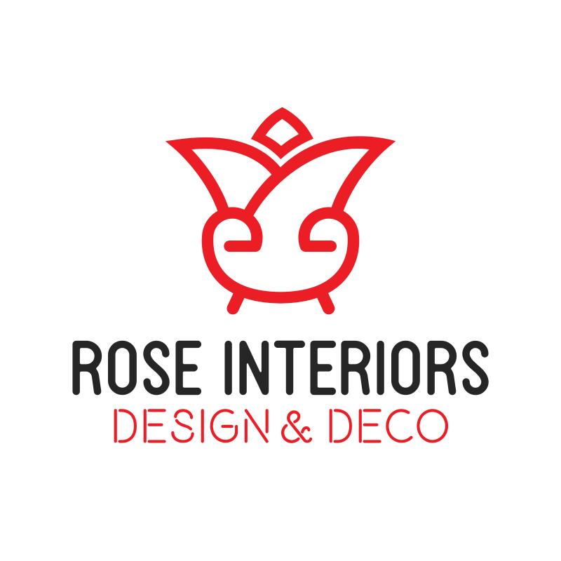Rose Interiors Logo Design