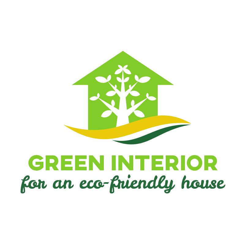 Green Interior Design Logo Design