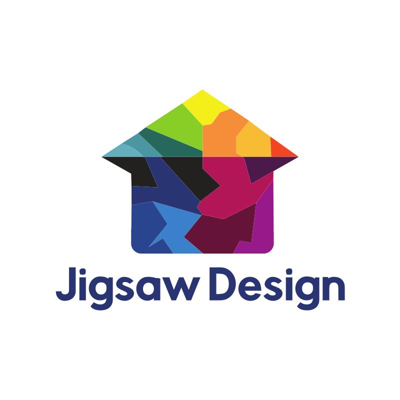 Jigsaw Home Design Logo Design