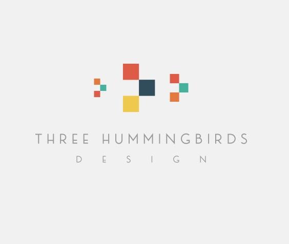 Three Hummingbirds Logo Design by GLDesigns