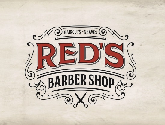 Red's Barber Shop Logo Design by Raicho