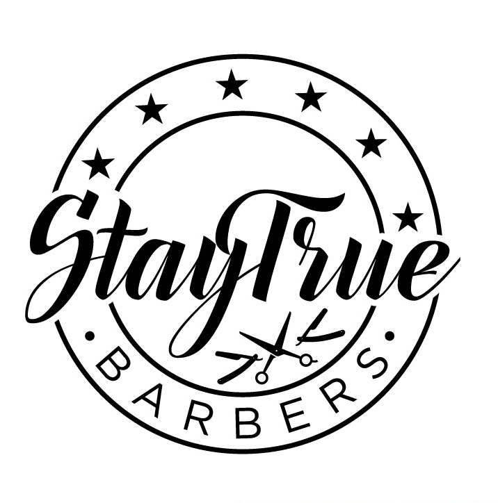 Elegant Black and White Circle Barber Logo Design by kaushal 05