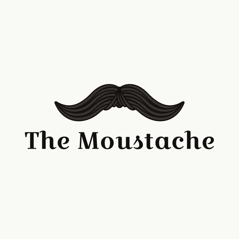 The Mustache Logo Design