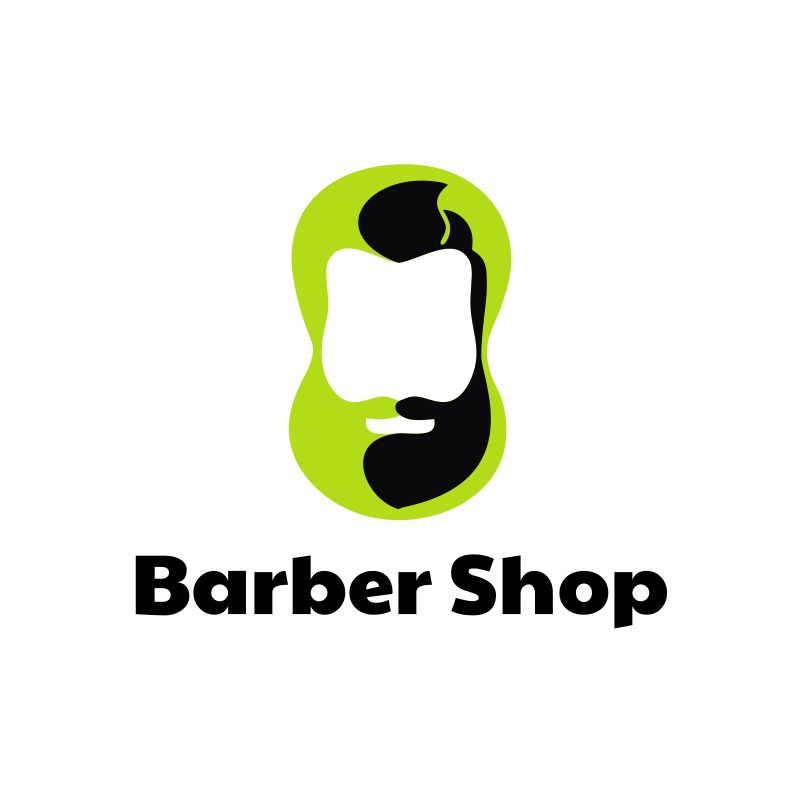 Hipster Barber Shop Logo Design
