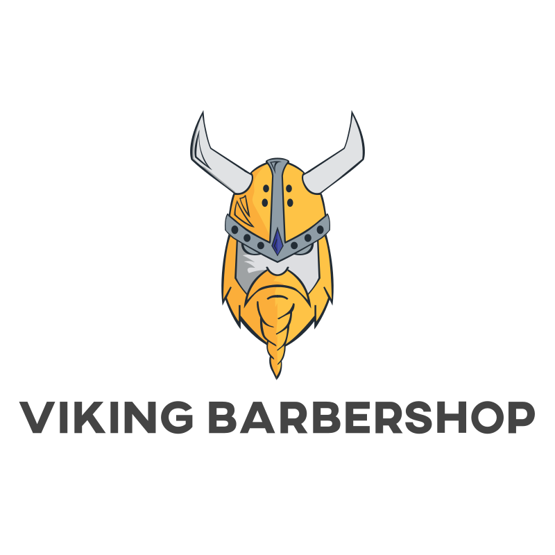 Viking Barbershop Logo Design