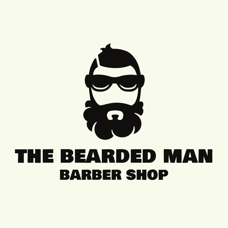 The Hipster Bearded Man Logo Design