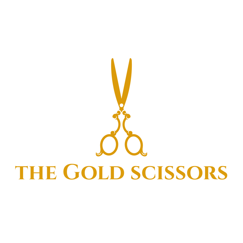 The Gold Scissors Logo Design